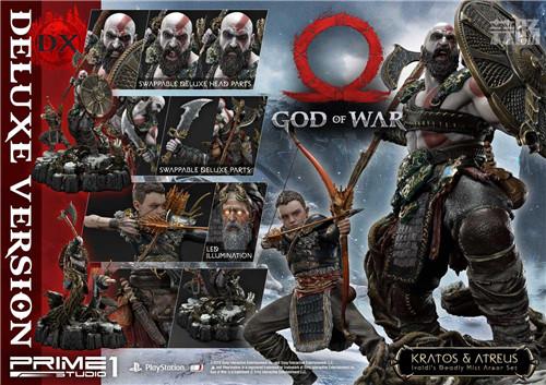 P1S推出《战神》奎托斯与阿特柔斯1:4雕像 模玩 第3张