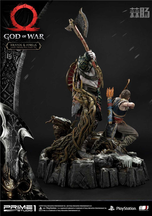 P1S推出《战神》奎托斯与阿特柔斯1:4雕像 模玩 第4张