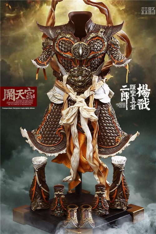猴厂推出二郎神哮天犬套装 二郎神麾下 草头神 - 墨角&丫骨也公布官图 模玩 第13张
