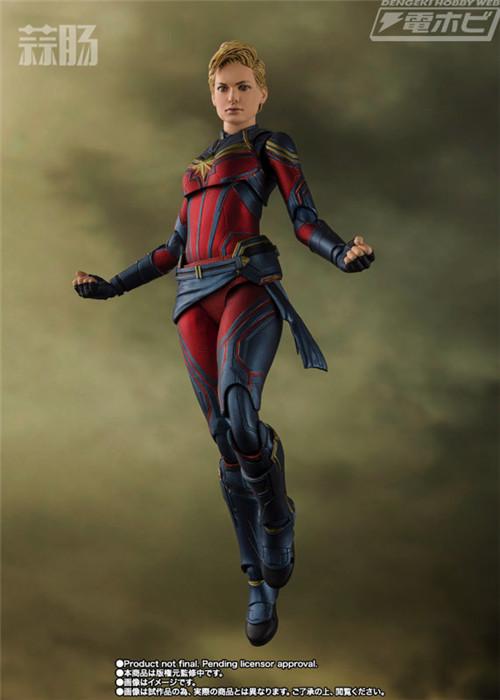 万代推出SHF《复仇者联盟:终局之战》惊奇队长人偶 模玩 第2张