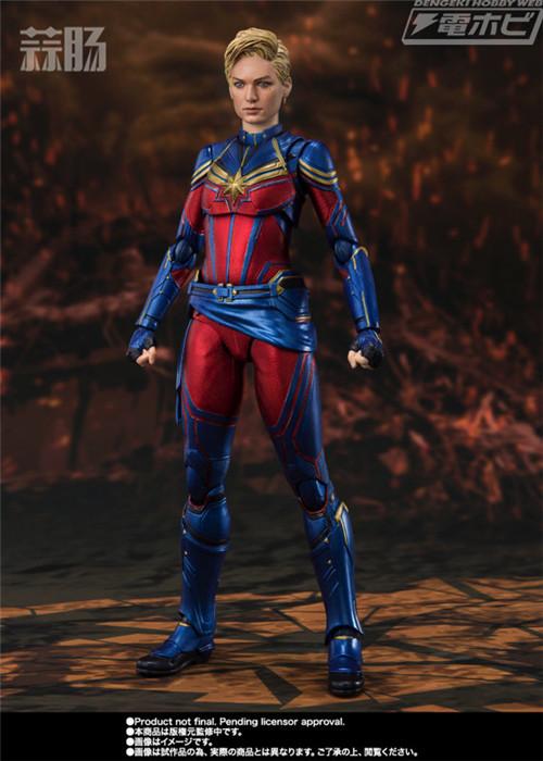 万代推出SHF《复仇者联盟:终局之战》惊奇队长人偶 模玩 第3张