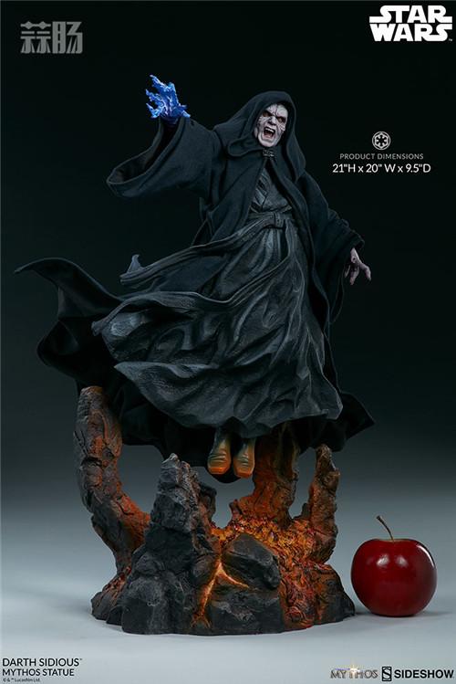 Sideshow 公布星战达斯·西迪厄斯雕像 模玩 第10张