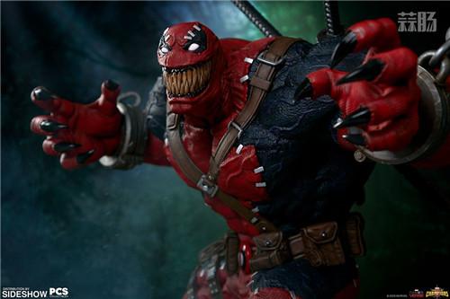 PCS与 Sideshow合作推出《MARVEL 超级争霸战》 1/3 比例毒液死侍雕像 模玩 第2张
