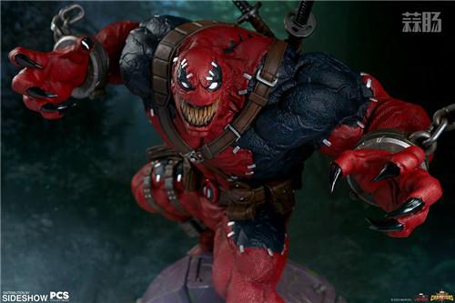 PCS与 Sideshow合作推出《MARVEL 超级争霸战》 1/3 比例毒液死侍雕像 模玩 第3张