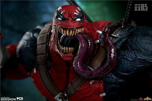PCS与 Sideshow合作推出《MARVEL 超级争霸战》 1/3 比例毒液死侍雕像 模玩 第5张