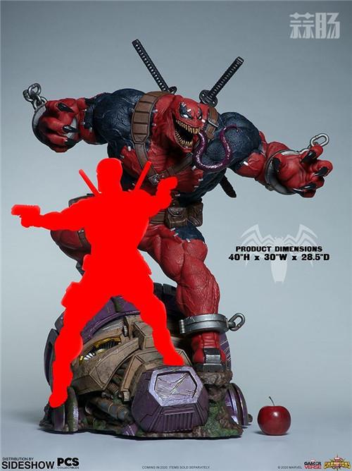 PCS与 Sideshow合作推出《MARVEL 超级争霸战》 1/3 比例毒液死侍雕像 PCS 死侍 漫威 毒液 Sideshow 模玩  第6张