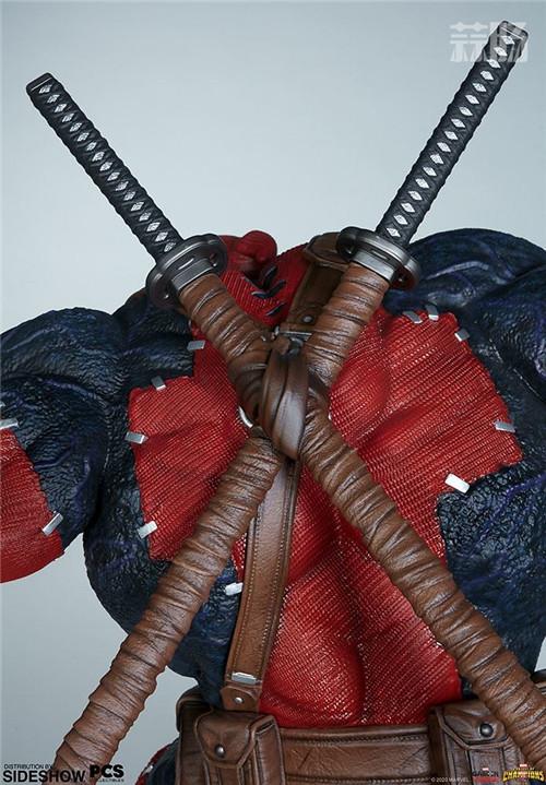 PCS与 Sideshow合作推出《MARVEL 超级争霸战》 1/3 比例毒液死侍雕像 模玩 第11张