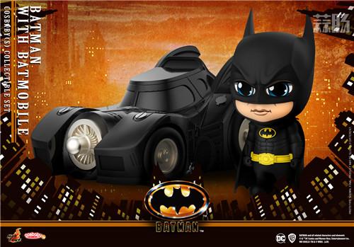 HotToys 1989《蝙蝠侠》蝙蝠侠丶小丑及蝙蝠车 COSBABY人偶 模玩 第2张