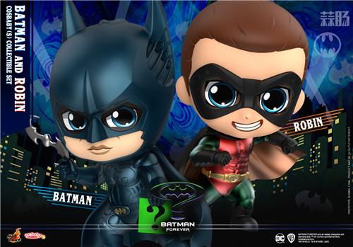 Hot Toys公开1995年版《永远的蝙蝠侠》正反角色首化身 COSBABY人偶 模玩 第2张