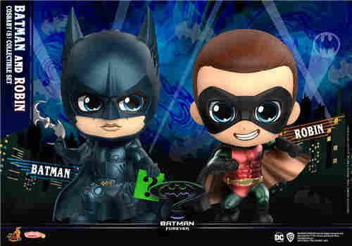 Hot Toys公开1995年版《永远的蝙蝠侠》正反角色首化身 COSBABY人偶