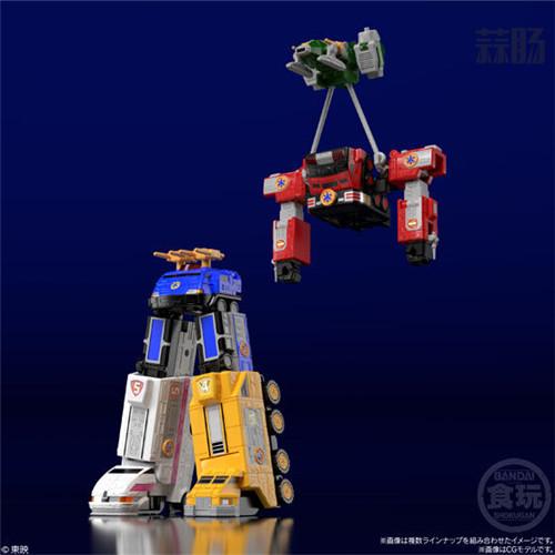 万代推出会员限定《救急战队GO GO V》组合机器人食玩 模玩 第6张