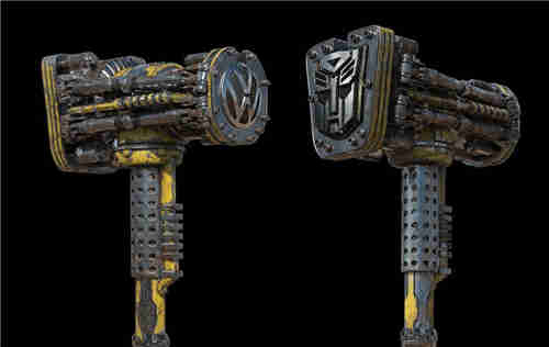 《变形金刚》概念设计师晒出《大黄蜂》设计废案大锤