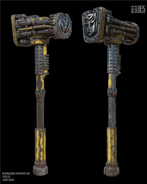 《变形金刚》概念设计师晒出《大黄蜂》设计废案大锤 变形金刚 第1张