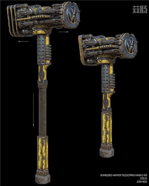 《变形金刚》概念设计师晒出《大黄蜂》设计废案大锤 变形金刚 第2张