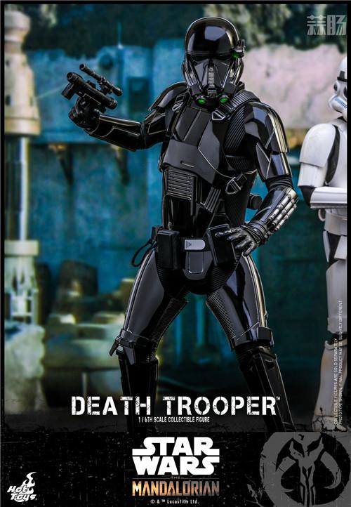 Hot Toys推出《曼达洛人》死亡士兵1:6人偶还原全黑色护甲 模玩 第1张