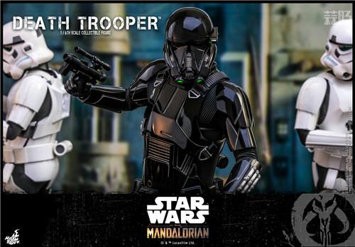 Hot Toys推出《曼达洛人》死亡士兵1:6人偶还原全黑色护甲 模玩 第6张