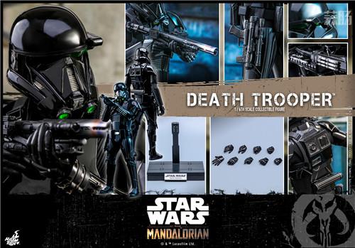 Hot Toys推出《曼达洛人》死亡士兵1:6人偶还原全黑色护甲 模玩 第7张
