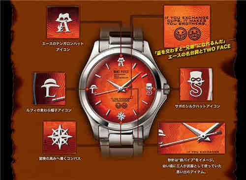 Premico推出《海贼王》路飞三兄弟周边手表