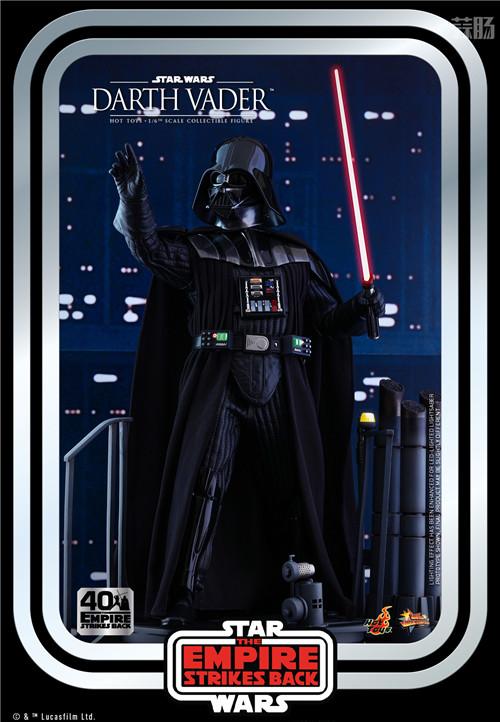 Hot Toys重启《帝国反击战40周年系列》黑武士达斯·维达1:6人偶 模玩 第2张