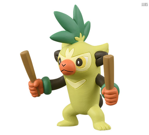 TakaraTomy推出《宝可梦》新玩具 莫鲁贝可登场 莫鲁贝可 变涩蜥 啪咚猴 腾蹴小将 宝可梦 Takara Tomy 模玩  第4张