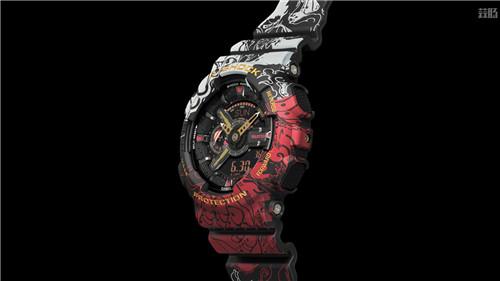 卡西欧G-Shock联动《海贼王》推出路飞主题GA-110腕表 动漫 第3张
