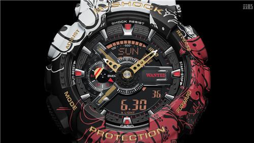 卡西欧G-Shock联动《海贼王》推出路飞主题GA-110腕表 动漫 第4张