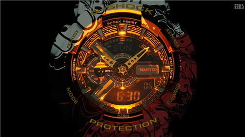 卡西欧G-Shock联动《海贼王》推出路飞主题GA-110腕表 动漫 第8张