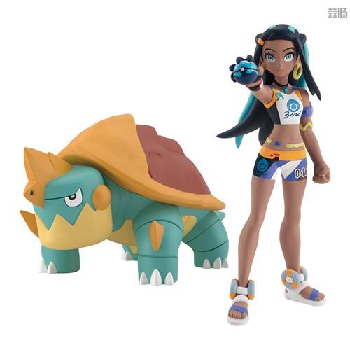 万代推出宝可梦比例世界食玩1/20露璃娜与暴噬龟 模玩 第2张