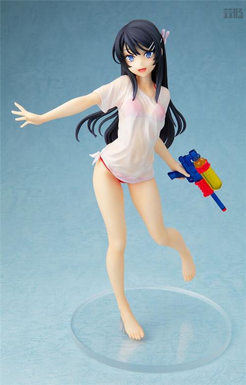 Chara-ani推出《青春猪头少年》水枪约会版樱岛麻衣1/7手办 模玩 第1张