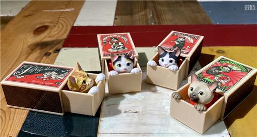 奇谭俱乐部推出可爱火柴盒猫扭蛋 模玩 第2张