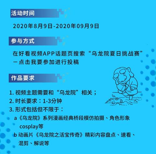 乌龙周刊   乌龙院夏日挑战赛火热进行中,Mini漫改组冲鸭! 漫展 第2张