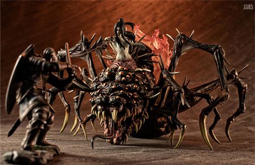 MegaHouse公开《黑暗之魂》魔女克拉格与高等骑士拼装模型 模玩 第1张