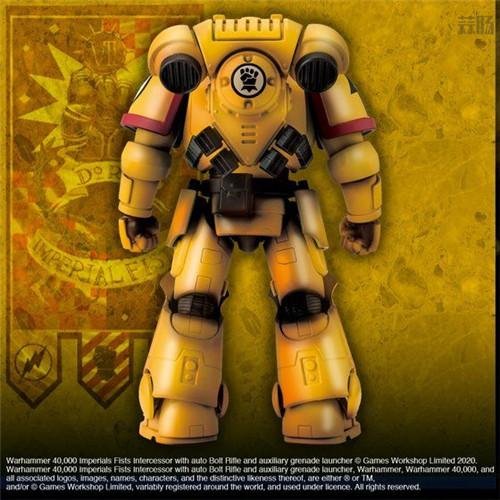 万代推出《战锤40K》帝国之拳星际战士可动手办 模玩 第4张