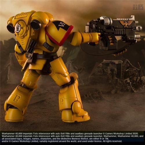 万代推出《战锤40K》帝国之拳星际战士可动手办 模玩 第6张