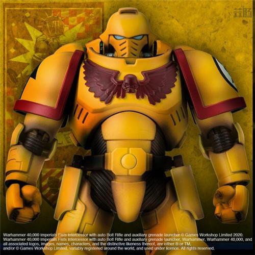 万代推出《战锤40K》帝国之拳星际战士可动手办 模玩 第2张