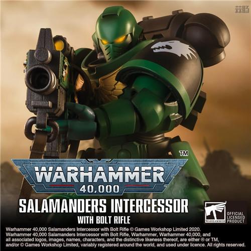 万代推出《战锤40K》火蜥蜴战团星际战士可动手办 模玩 第1张
