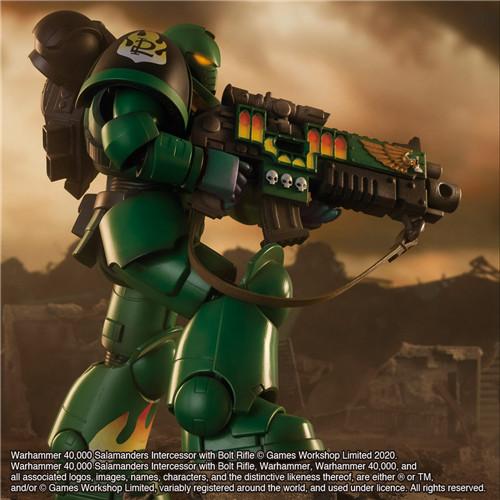 万代推出《战锤40K》火蜥蜴战团星际战士可动手办 模玩 第7张