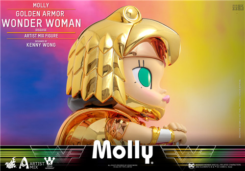 Hot Toys 与 Kennyswork 联动推出Molly伪黄金装甲神奇女侠版 Molly 泡泡玛特 KENNYSWORK HT Hot Toys 模玩  第3张