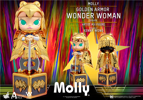 Hot Toys 与 Kennyswork 联动推出Molly伪黄金装甲神奇女侠版 Molly 泡泡玛特 KENNYSWORK HT Hot Toys 模玩  第6张