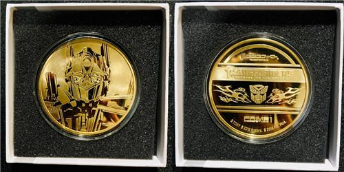 P1S推出《变形金刚》电影版擎天柱与威震天纪念金币等大量周边 变形金刚 第2张
