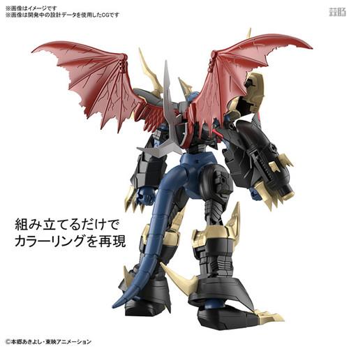 万代推出FRSA帝皇龙兽模型 可变形龙与战士形态 帝皇龙兽 数码宝贝 Figure rise Standard Amplified 万代 模玩  第3张