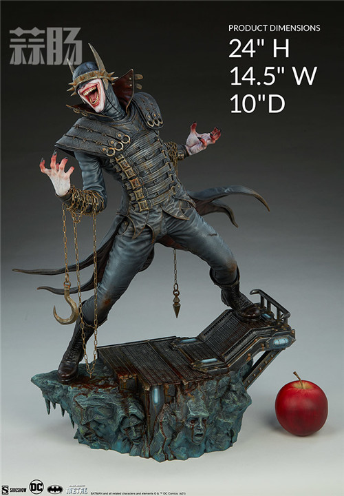 Sideshow Collectibles推出DC狂笑之蝠雕像 狂笑之蝠 蝙蝠侠 DC Sideshow Collectibles 模玩  第7张